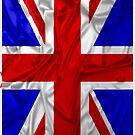 Wrinkled Union Jack Flag by Packrat