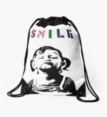 Banksy - SMILE Drawstring Bag