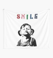Banksy - SMILE Wall Tapestry