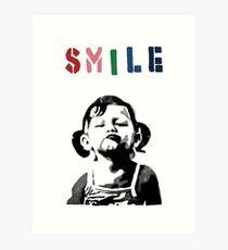 Banksy - SMILE Art Print