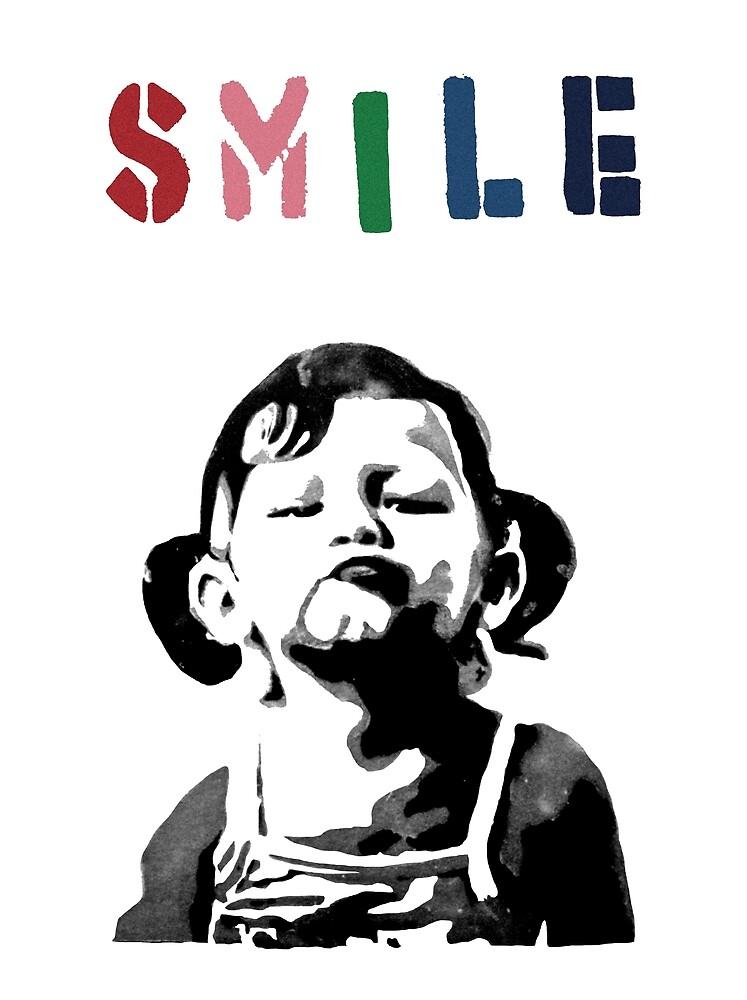 Banksy - SMILE by streetartfans