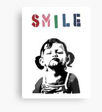 Banksy - SMILE Metal Print