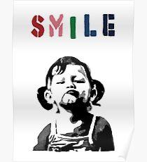 Banksy - SMILE Poster
