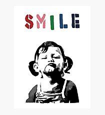 Lámina fotográfica Banksy - SONRISA