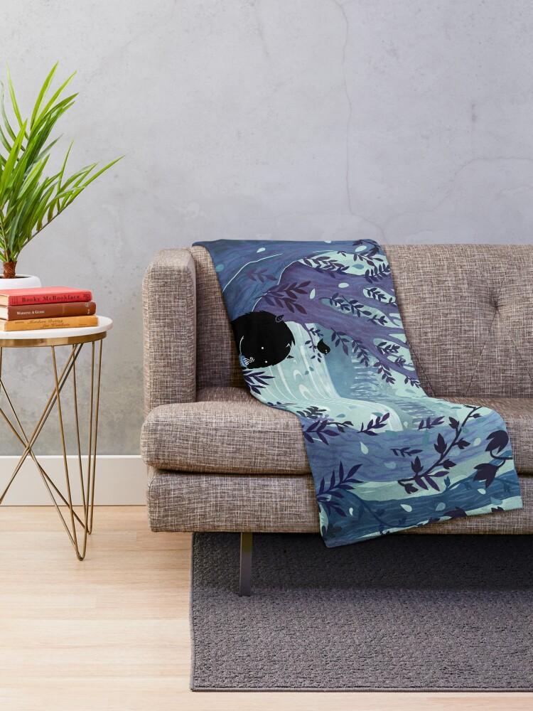 Alternate view of A Quiet Spot of Tea Throw Blanket