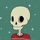 Skelett in Christmas Sweater von agrapedesign
