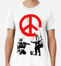 Banksy - Soldiers Painting Peace (CND Soldiers) Men's Premium T-Shirt