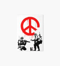 Banksy - Soldiers Painting Peace (CND Soldiers) Art Board