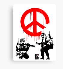 Banksy - Soldiers Painting Peace (CND Soldiers) Canvas Print