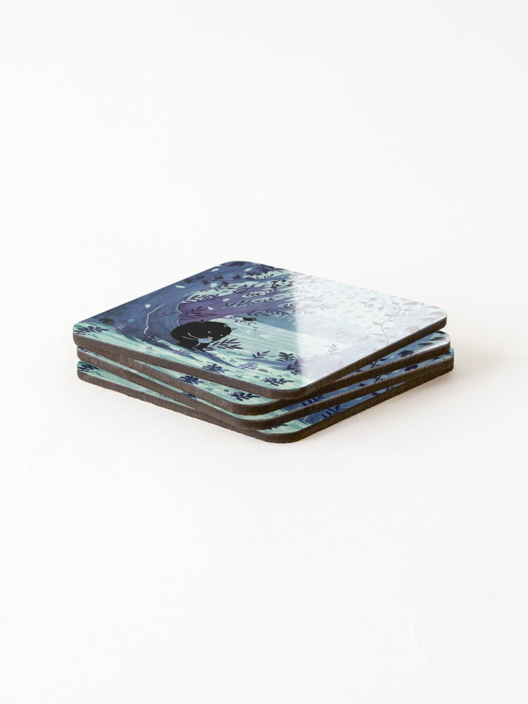 Alternate view of A Quiet Spot of Tea Coasters (Set of 4)