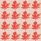 Pen and Ink Drawing of an Autumnal Maple Leaf by beckytide
