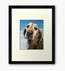 Gracie - Golden Retriever painting  Framed Print