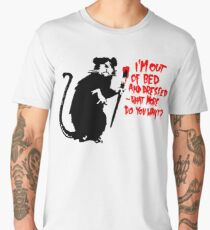 Banksy - Out of Bed Rat Men's Premium T-Shirt