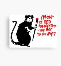 Banksy - Out of Bed Rat Canvas Print