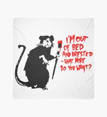 Banksy - Out of Bed Rat Scarf