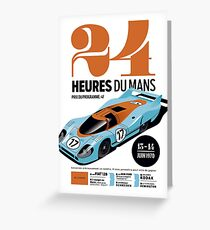 24 hours of Le Mans Greeting Card