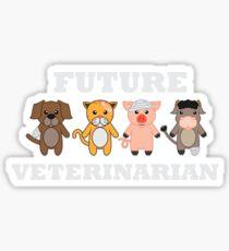 Future Veterinarian Animal Lover Sticker
