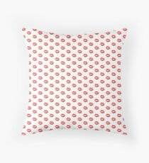 Beautiful Red Kiss Isolated Floor Pillow