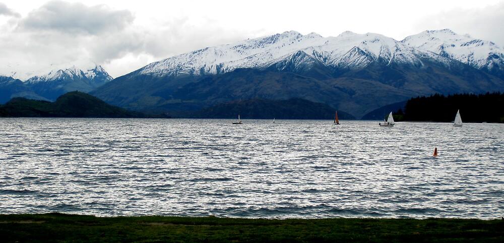 Alpine lake sails by KimOZ