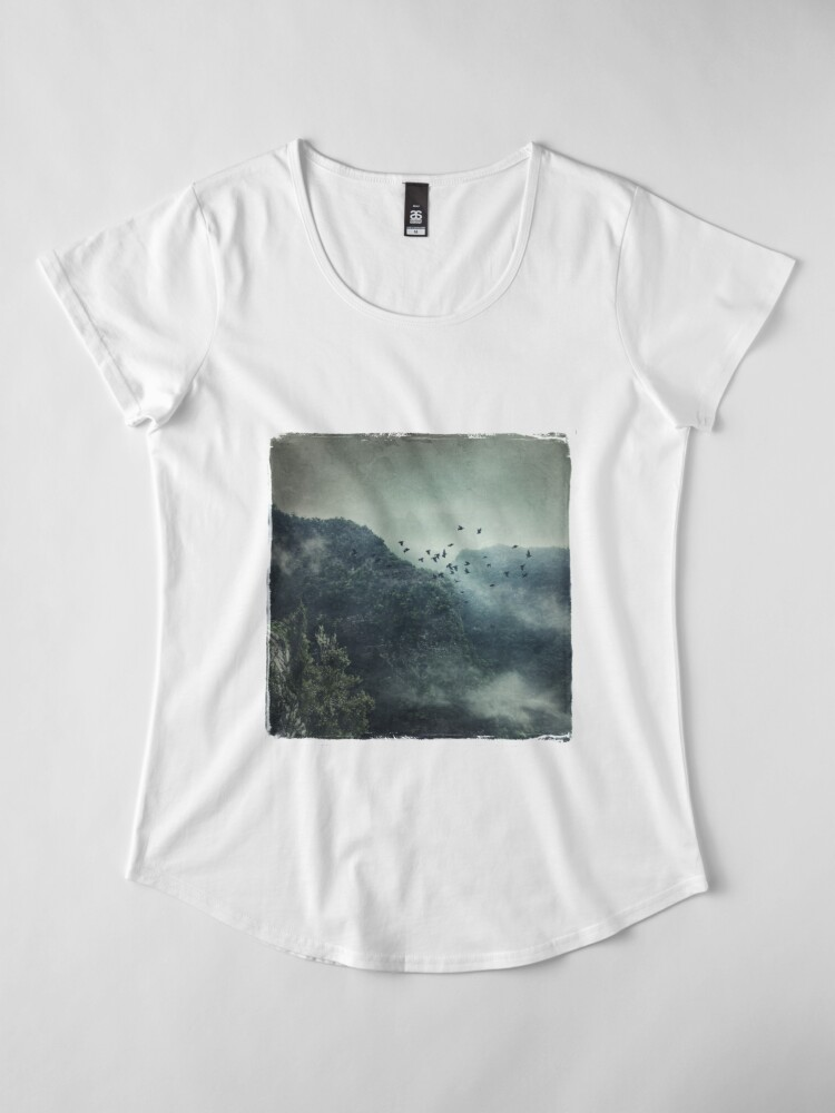 Alternate view of Misty Mountains Vol. X Premium Scoop T-Shirt