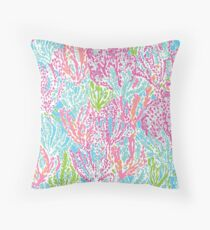 lilly pulitzer print Throw Pillow