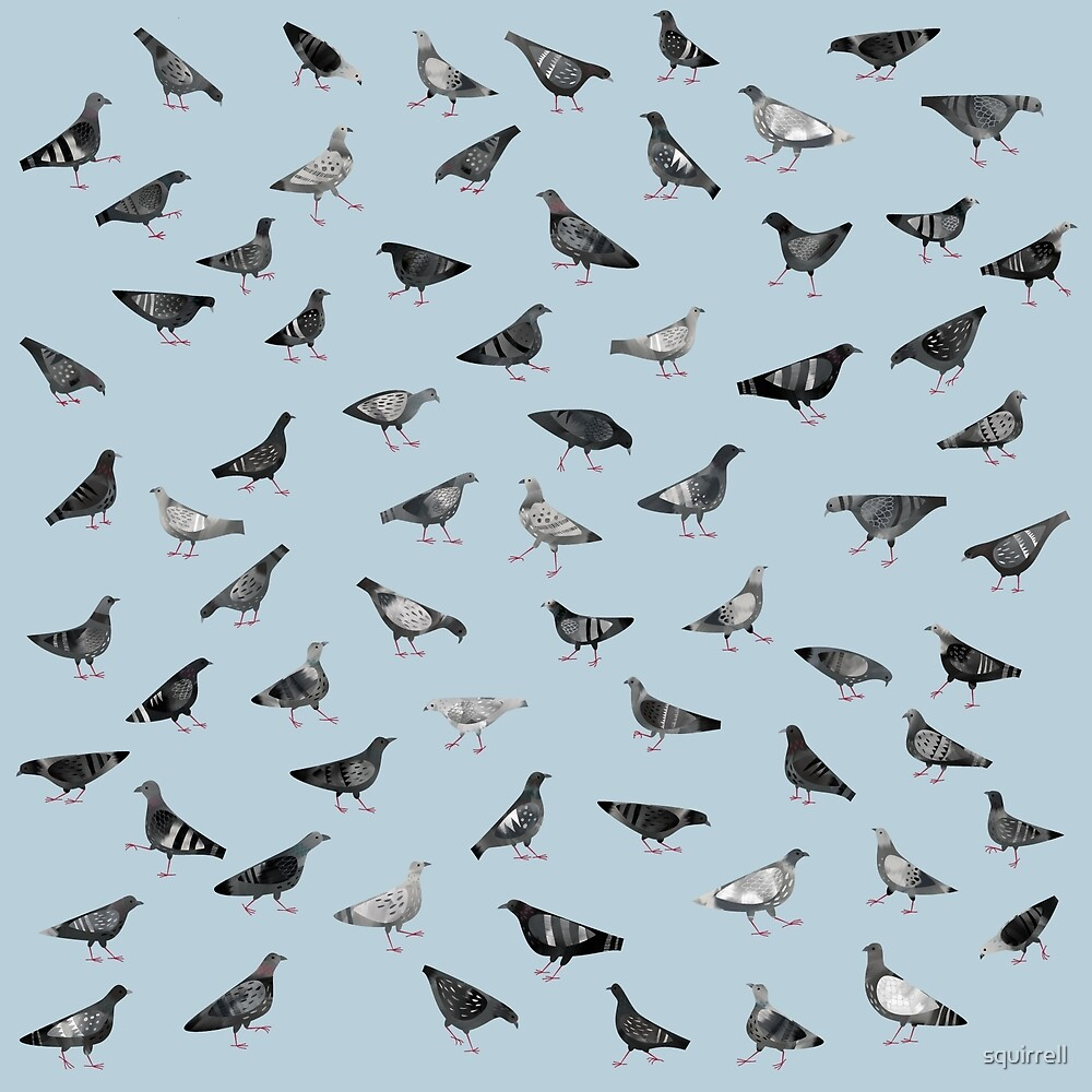 Pigeons Doing Pigeon Things by Nic Squirrell