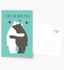 I Love You Beary Much Postcards