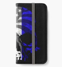 Red White and Blue Skull  iPhone Wallet/Case/Skin