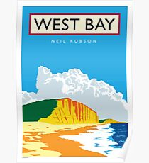 West Bay, Dorset Poster