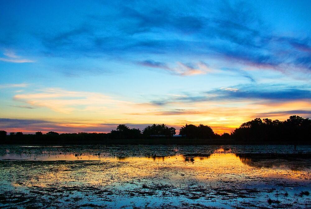 Knuckey Lagoon sunset by Keith McGuinness