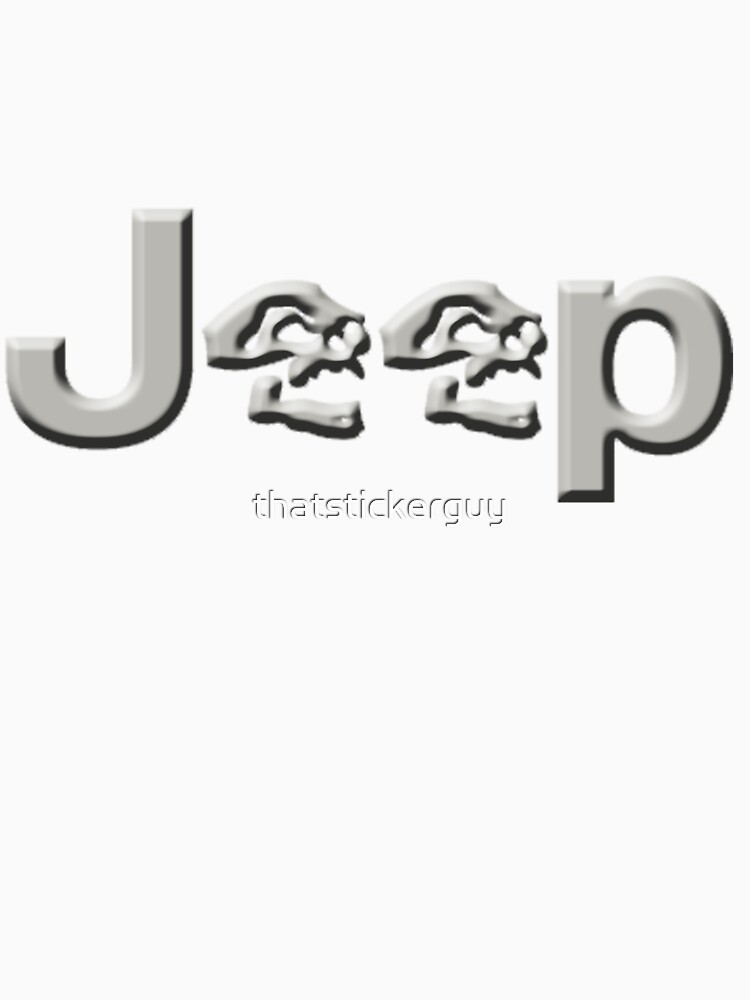 JEEP SKULLS Silver by thatstickerguy