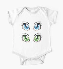 Cartoon female eyes 2 Kids Clothes