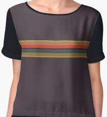 13th Doctor Jodie Whittaker Shirt Stripes Women's Chiffon Top