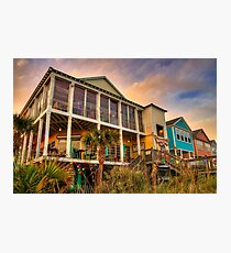 River City Cafe from the Beach Photographic Print