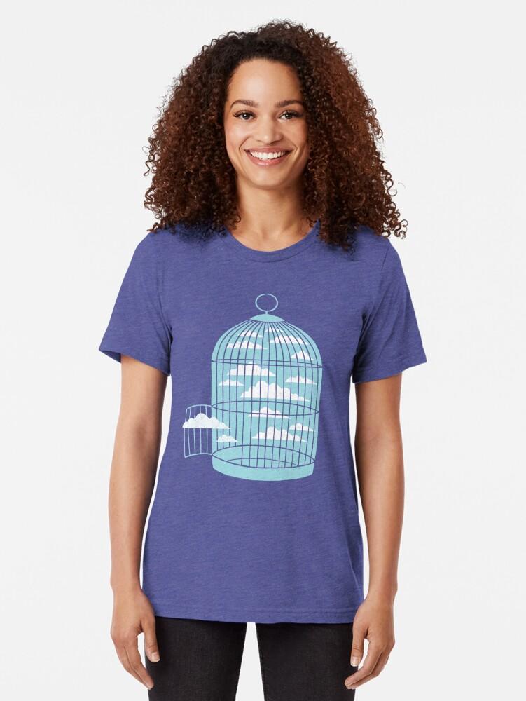 Alternative Ansicht von Frei wie ein Vogel Vintage T-Shirt