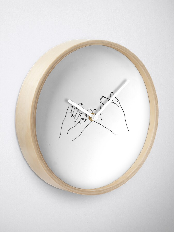 Alternate view of Pinky Promise Clock