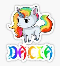 Dacia Unicorn Sticker