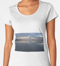 West Kirby boating lake view, Wirral UK Women's Premium T-Shirt