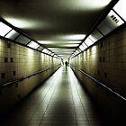 eerie long underground walkway von Michael Hofmann