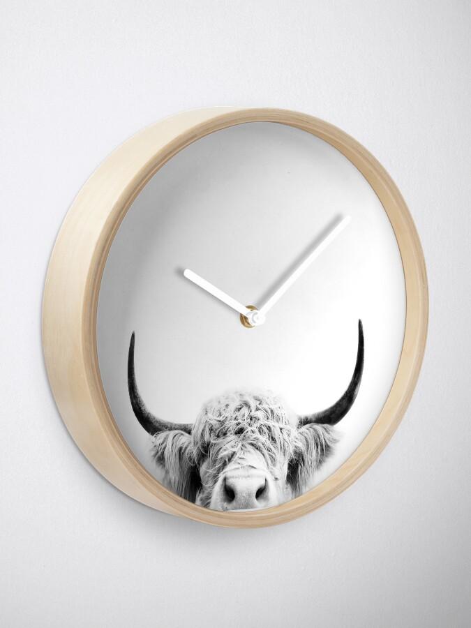 Alternate view of Peeking Cow Clock
