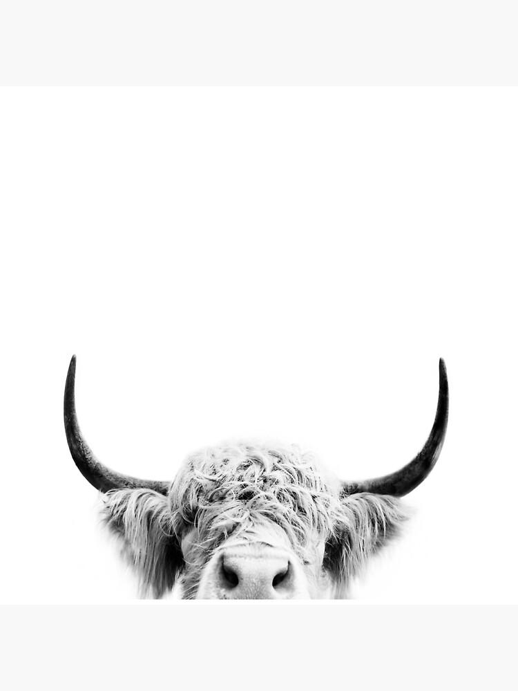 Peeking Cow by sisiandseb