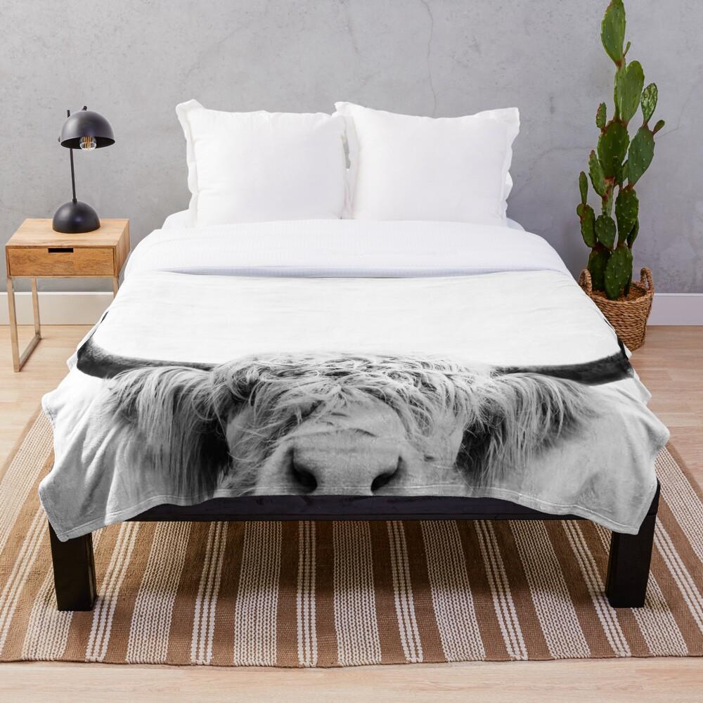 Peeking Cow Throw Blanket