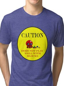 Tako-Chan Does Not Play Well.. Tri-blend T-Shirt