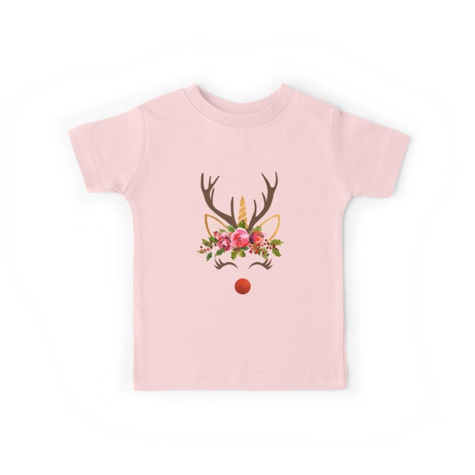 T Shirt Weihnachten.Unicorn Reindeer Christmas Einhorn Rentier Weihnachten Kids Clothes By Stylesyndikat