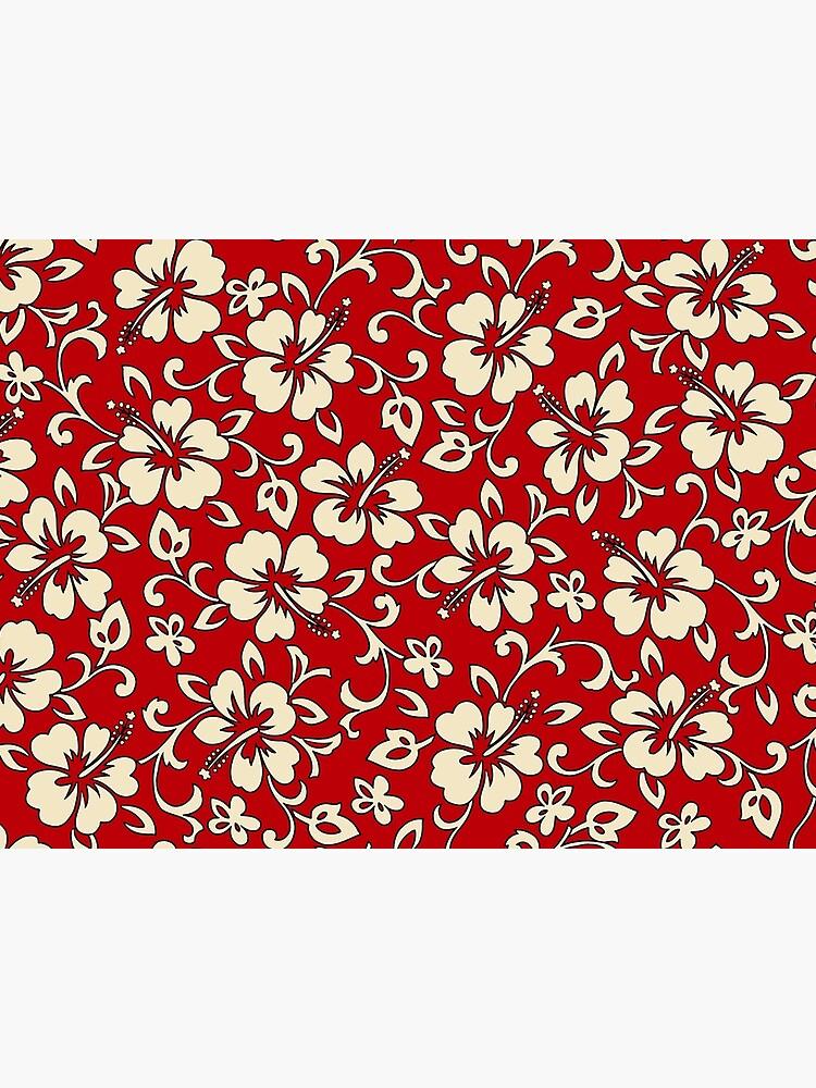 70e9fbac8 Malia Hawaiian Hibiscus Aloha Shirt Print - Red