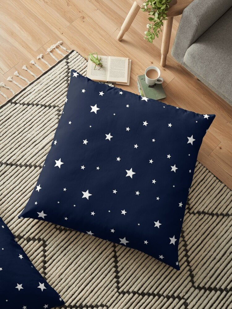 Scattered Stars White on Midnight Blue by laurabethlove