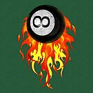 Flaming 8 Ball by Packrat