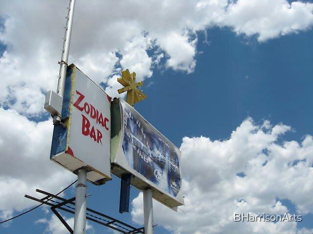 Bar Sign, Blue Sky by BHarrisonArts