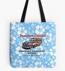 Freedom Cruisin' Patriotic Hawaiian Surf Woody - Sky Blue Tote Bag