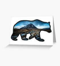 Big Blue (Blue Bear Outline) Greeting Card
